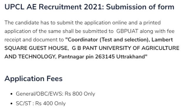 upcl ae recruitment 2021 submission OF FORM